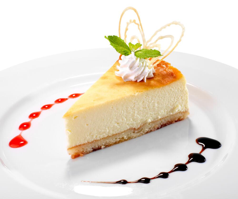 Tarta chocolate blanco con cuajada